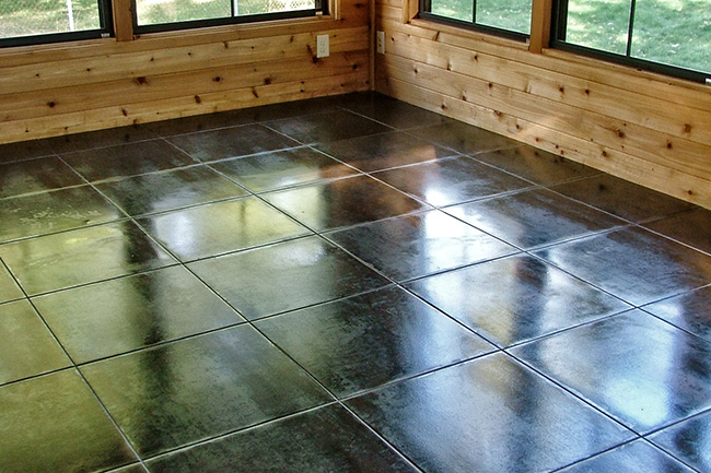 Tile art photos fulmer tile contractor floor tile for Solarium flooring